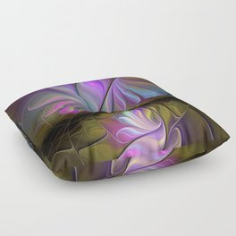 Come Together, Abstract Fractal Art Floor Pillow