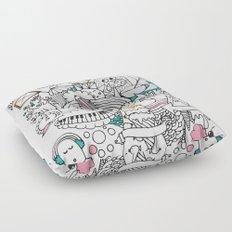 My Happy Doodle Floor Pillow