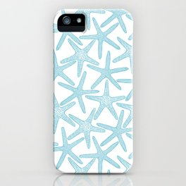 Light starfish pattern iPhone Case