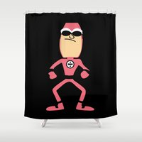 butcher billy Shower Curtains featuring Billy Numerous by Adrian Mentus