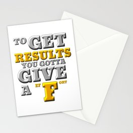 GIVE A F Stationery Cards