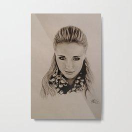Hayden Panettiere Portrait Metal Print