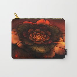 Neon Flower Carry-All Pouch