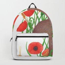 shy bunny in poppy field Backpack