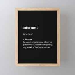 Internest black and white modern typography quote bedroom poster wall art home decor Framed Mini Art Print