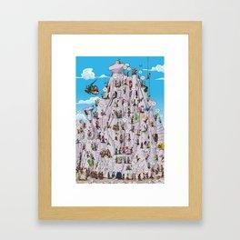 Bubble climbing Framed Art Print