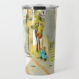 Tortora alley with scooter Travel Mug