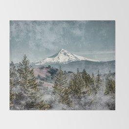 Frosty Mountain Throw Blanket