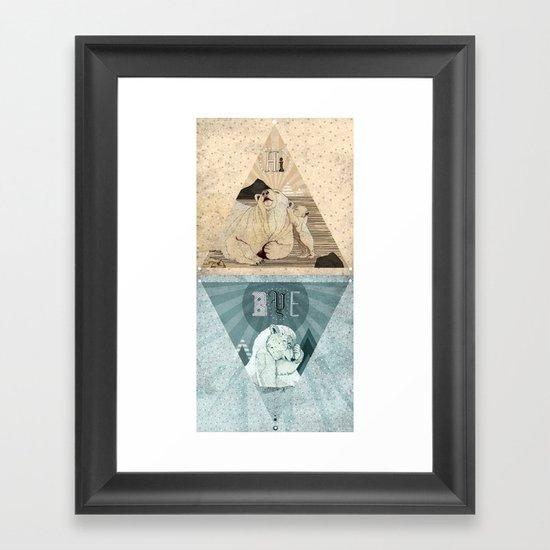 HI & BYE Framed Art Print