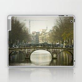 Bike Bridge Amsterdam Laptop & iPad Skin