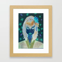 From the depths, into the light...  Framed Art Print