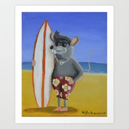 Surf Rat Art Print