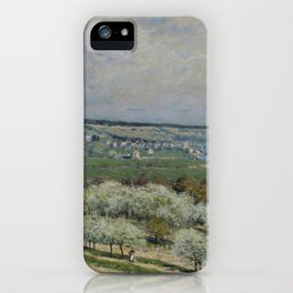 Alfred Sisley - The Terrace at Saint-Germain, Spring (1875) iPhone Case