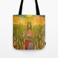 jesus Tote Bags featuring Jesus by Eugene Frost