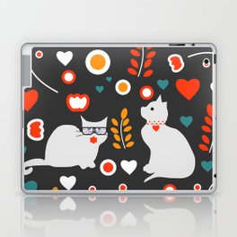 Valentine decor with cats Laptop & iPad Skin