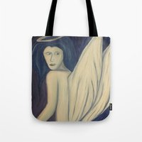 angel wings Tote Bags featuring Angel Wings by Griffin Lauerman