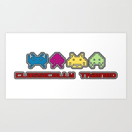 Classically Trained - 80s Video Games Art Print