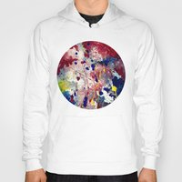 fireworks Hoodies featuring Fireworks by Tia Hank
