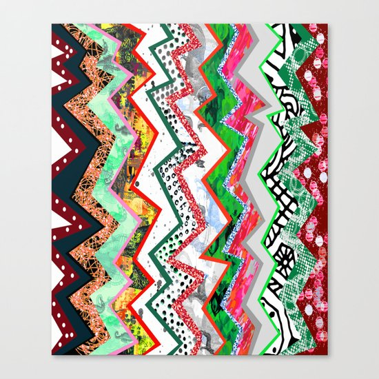 Candy Land Zigzags Canvas Print