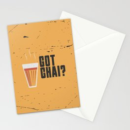 Funny Got Tea Chai Hindi Quote Stationery Cards