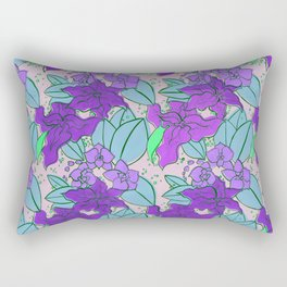 Purple Lilies and Orchids Rectangular Pillow