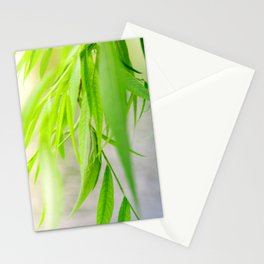 Nature photography green leaf II Stationery Cards