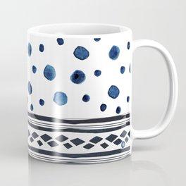 Forms blue watercolor Coffee Mug