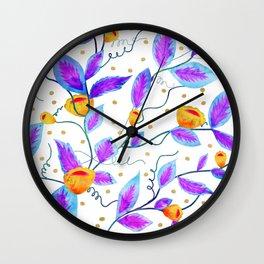Purple Prosper #society6 #buyart Wall Clock