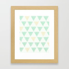 Dotted Triangle Print Framed Art Print