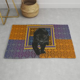All Over Print Luxury Vintage Cryptic Panther Ornament Rug