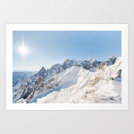 Monte Bianco / Mont Blanc mountain's beauty Art Print