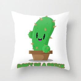 Pricky cactus Throw Pillow