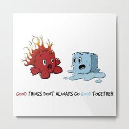Fire & Ice by dana alfonso Metal Print