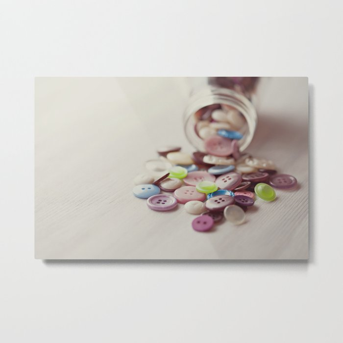 Need Buttons? Metal Print