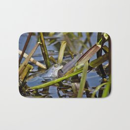 Blue Frogs 02 - Rana arvalis Bath Mat