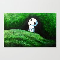 kodama Canvas Prints featuring Kodama by Koolkarlie