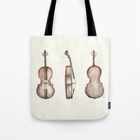 cello Tote Bags featuring Cello by Mike Koubou