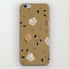 Pink a White Roses and Peonies Flower pattern. iPhone Skin