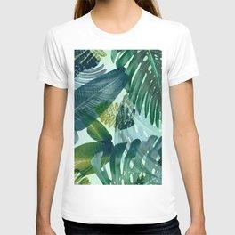 Jungles greens, banana leaf, tropical, Hawaii decor T-shirt