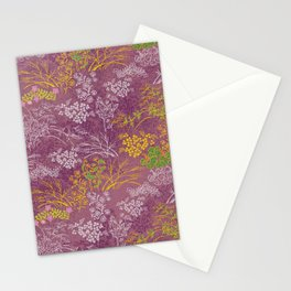 Japanese pattern floral purple Stationery Cards