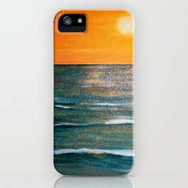 Sparkles Dancing Over the Ocean at Sunset iPhone Case