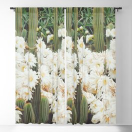 Cactus and Flowers Blackout Curtain