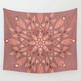 Peachy Fall Mandala Wall Tapestry