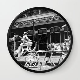 Mule Drawn Carriage Wall Clock