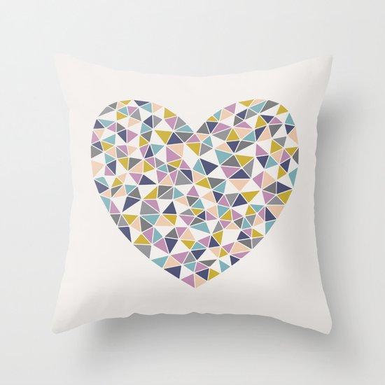 Faceted Heart Throw Pillow