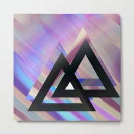 Violet triangles Metal Print