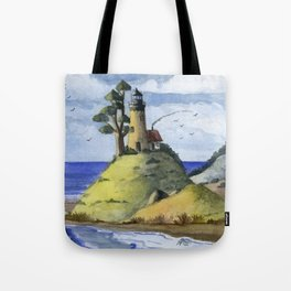 Peaceful Lighthouse IV Tote Bag