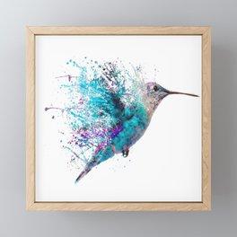 HUMMING BIRD SPLASH Framed Mini Art Print
