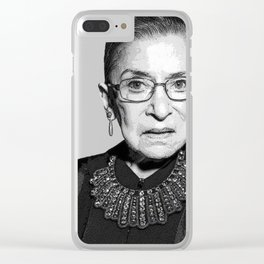 Ruth Bader Ginsburg Dissent Collar RBG Clear iPhone Case