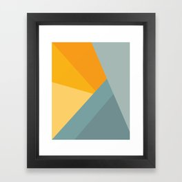 Abstract Mountain Sunrise Framed Art Print